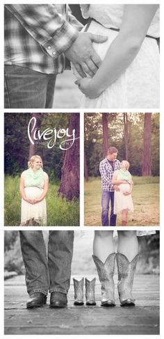 Maternity Photography Session - Rustic outdoors with cowboy boots - Golden Hour - LiveJoy Photography #livejoyphotography #maternity