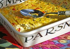 Recipe for egg and cheese casserole with chayote squash and green chiles {vegetarian, gluten-free} - The Perfect Pantry®