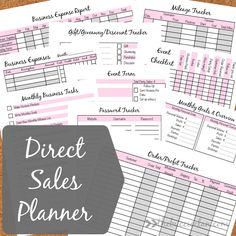 Direct sales planner - get your business organized now! Thirty one, Arbonne, Origami Owl, Premier Designs, Perfectly Posh, Amway, Avon, Pampered Chef, It Works, Scentsy