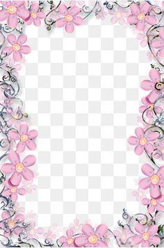 Modelo de Quadro de fotos de Flores