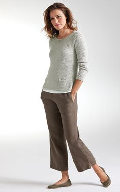 Love this thin knit top for cool weather - think it's wearable dressed up or casual.
