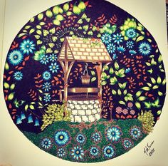 Well Secret Garden Poco Jardim Secreto Johanna Basford BookColoring