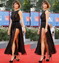 gemma-arterton-legs-beaded-black-dress