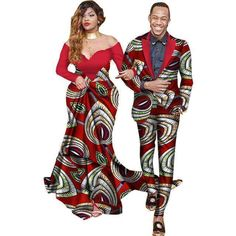 Clothing Type: Africa Clothing, Couple Suits Material: Cotton Special Use: Traditional Clothing Type: couple suits Pattern: Stamp African Men Fashion, African Wear, African Dress, African Suits, White Dresses For Women, Suits For Women, Mens Suits, Purple Bandage Dress, Couples African Outfits