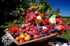 giant bowls of fresh fruit are a very welcome addition for those of us that watch our weight...