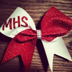 Best Red And White Cheer Bows Products on Wanelo