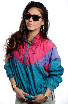 aea86e34f985 The 90 Greatest  90s Fashion Trends75. Neon windbreakers
