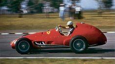 Trintignant num Ferrari 625 durante o GP da Argentina