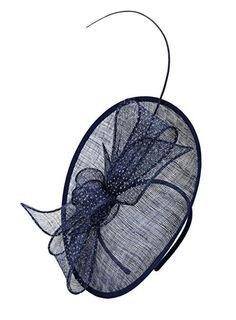 Navy Single Quill Oval Fascinator 20 Wedding Outfitsfascinatorbhs Quillfeatherwedding