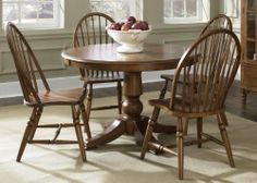 Autumn Oaks Oval Pedestal Table Top by Liberty. $648.04. Material Select Hardwoods. Wood-on-Wood Drawer GlidesFelt Lined DrawersPewter HardwareUpdated Turnings on LegsFretwork on DoorsWine & Stemware StoragePull-Out Tray3 Adjustable Glass Shelves. Liberty Furniture is a dedicated provider of all wood products encompassing the bedroom, dining room, entertainment, occasional and home office categories. They use high-quality wood with the best veneers and conduct an...