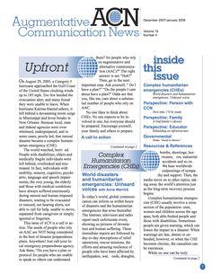 ACN Newsletter über UK und UK Nutzer in Notfallsituationen  www.augcominc.com/newsletters/index.cfm/newsletter_3.pdf