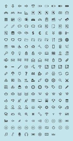Set de íconos minimalistas para tu sitio web, completamente gratis - elWebmaster.com