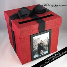 Photo Card Box- Choose Your Colors and Size Diy Card Box, Gift Card Boxes, Diy Gift Box, Graduation Card Boxes, Graduation Party Themes, Gift Box Birthday, Diy Birthday, Birthday Room Decorations, Gift Wraping