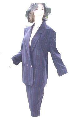 Tuzzi Kostüm dunkelblau bunt gestreift Gr 38 (5522)Willkommen im  www.Chelsea-Fashion-Glamur.de  Shop Secondhand und Neuware Mode zu günstigen Preisen   Dies und Das für jeden was.....
