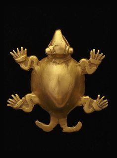 Pendant bell: turtle, A.D. 800-1200, Pre-Columbian. Gold. | Dallas Museum of Art
