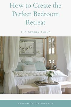 Our bedrooms are where we recharge and refuel our minds & bodies! The Design Twins share their best tips to create the perfect bedroom retreat in your home! Home Goods Decor, Diy Home Decor, Bedroom Retreat, Bedroom Decor, Home Decor Inspiration, Decor Ideas, Farmhouse Master Bedroom, Pretty Bedroom, Farmhouse Style Decorating