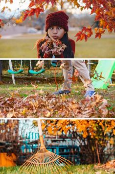 Leaf raking hacks, tips, and ideas for homeowners to maintain the yards and gardens in the Fall. This article tells you how to use tools and clever DIYs to clean up those autumn leaves.