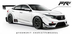 2016 Honda civic Body kit by : FRii #Honda #JDM #GT3