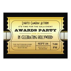 This Deals Annual Movie Awards Party Golden Ticket 5x7 Paper Invitation Card lowest price for you. In addition you can compare price with another store and read helpful reviews. Buy