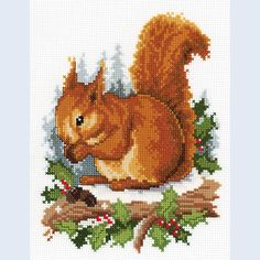 Squirrel - counted cross-stitch kit Vervaco
