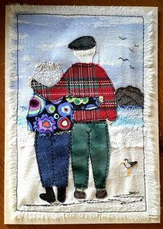This, that and everything inbetween Tilly McLeod Applique Fabric, Patchwork Fabric, Applique Patterns, Embroidery Applique, Quilt Patterns, Machine Embroidery, Fabric Cards, Fabric Postcards, Paper Cards