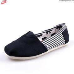 Sale Discount University Stripe Black Mens Classics Toms Shoes Casual shoes Store