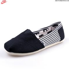 Sale Discount University Stripe Black Mens Classics Toms Shoes Casual shoes Store