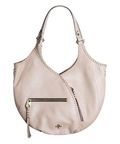 Look what I found on #zulily! Beige Demi Pebble Leather Hobo Bag #zulilyfinds