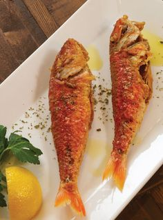 Our delicious barbounia, the Greek word for red mullet, is a Mediterranean fish that has a rich sweet flavor