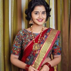 Looking for ikat blouse designs? Here are pretty latest models that can add a dose of style and elegance to all your saree look. Half Saree Designs, Blouse Designs, Anupama Parameswaran, Simple Sarees, Thing 1, Designer Blouse Patterns, Stylish Sarees, Indian Jewellery Design, Saree Look