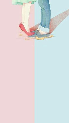 The post wallpaper 87 appeared first on Fosforlu Düşünceler! Kawaii Wallpaper, Trendy Wallpaper, Love Wallpaper, Cartoon Wallpaper, Cute Wallpapers, Iphone Wallpaper, Art Love Couple, Anime Love Couple, Love Art