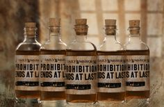 #Whiskey #wedding favors for a boozy bunch!