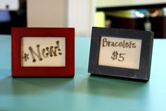 craft booth displays, display idea, craft booths, craft fair, price tags