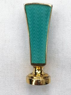 Guilloche enamel silver gilded seal by David Andersen of Norway. Present collection.