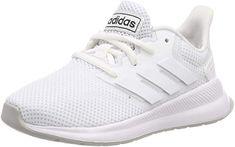 adidas Unisex-Kinder Runfalcon K Sneaker, Bianco Unisex, Shoe Collection, Adidas Sneakers, Running, Shoes, Amazon, Fashion, Slippers, Handbags