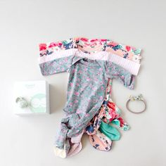 Mermaid Baby Gown Tutorial + Owlet Smart Sock Promo (see kate sew) Childrens Sewing Patterns, Baby Clothes Patterns, Sewing For Kids, Clothing Patterns, Owlet Smart Sock, Smart Socks, Easy Baby Blanket, Baby Sewing Projects, Sewing Tips