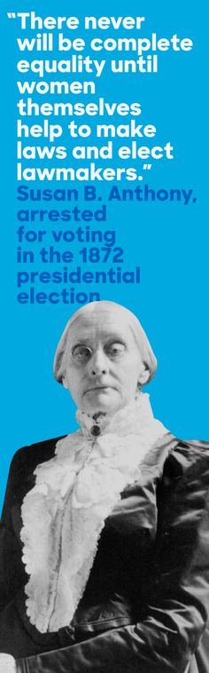 On November 5, 1872, Susan B. Anthony voted in a presidential election—and was then arrested. Almost 50 years later, the Nineteenth Amendment was ratified, prohibiting states from denying women the right to vote.
