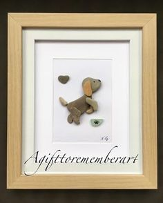 """73 Likes, 3 Comments - Neshat Ghaffari (@agifttorememberart) on Instagram: """"""""Little puppy"""" and this is how adorable he looks in a frame. Available in my Etsy shop tonight!…"""""""