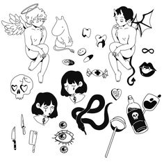 commissions are OPEN💉 Cute Tiny Tattoos, Dope Tattoos, Mini Tattoos, Unique Tattoos, Body Art Tattoos, Small Tattoos, Retro Tattoos, Vintage Tattoos, Tatoos