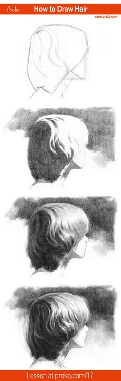 Learn how to draw realistic hair. Follow along with this drawing instruction on proko.com/17