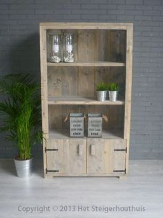 1000 images about steigerhout kast on pinterest products for Boekenkast steigerhout