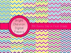 free Chevron Digital Paper {Brights!}