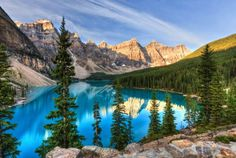Miracle of Nature in Canada: Moraine Lake