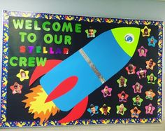 Welcome to my SPACE Theme Classroom! Space Theme Classroom, Space Theme Preschool, Stars Classroom, Preschool Classroom Decor, Classroom Decor Themes, New Classroom, School Decorations, Toddler Classroom, School Themes