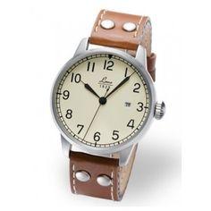 Relojes Laco: Reloj Automatico correa piel marrón  Ref: LC861611  http://www.tutunca.es/reloj-laco-navy-miyota-creme-automatico