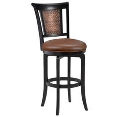 """'Cecily' Black Honey and Hammered Copper Stool 