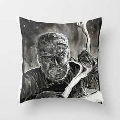 The Wolfman Throw Pillow by CHRIS MASON - $20.00