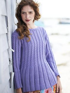 Free Pattern: Cable and Rib Tunic