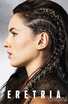 'The Shannara Chronicles' Premieres Next Week - See All The Pics Now!: Photo Wil (Austin Butler), Amberle (Poppy Drayton), and Eretria (Ivana Baquero) hold tight onto a rope in this new still from The Shannara Chronicles. Face Off, Hair Inspo, Hair Inspiration, Braided Hairstyles, Cool Hairstyles, Viking Hairstyles, Party Hairstyles, Fantasy Hairstyles, Ivana Baquero