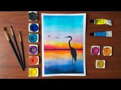 Acuarela para principiantes #11 / Garza en la playa 😱🌈 - YouTube Colores Prismacolor Premier, Watercolor Paintings, Drawings, Artwork, Youtube, Watercolour, Drawing For Kids, Art Pictures, Easy Paintings